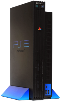 A PlayStation 2 in the original design